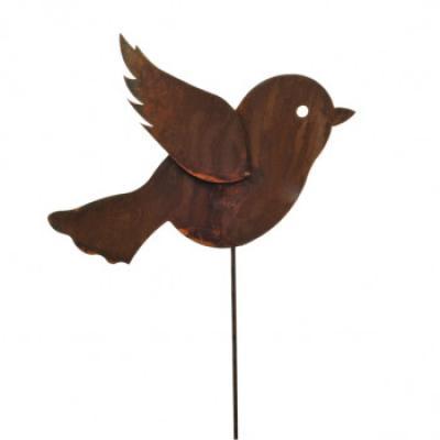 kovový zápich ptáček velký