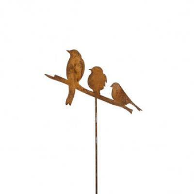 """kovový zápich """"ptačí trio"""""""